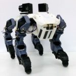 Новый четвероногий робот способен подниматься по вертикальной лестнице и брать вертикальные препятствия