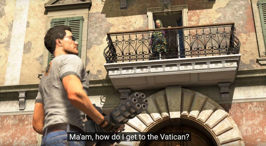 Серьезный Сэм едет в Ватикан и угоняет Папамобиль в новом трейлере